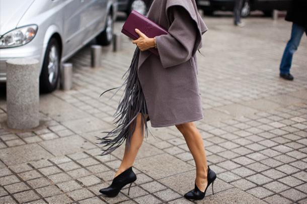 falda flecos street style