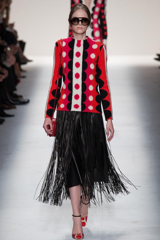 falda flecos valentino AW1415