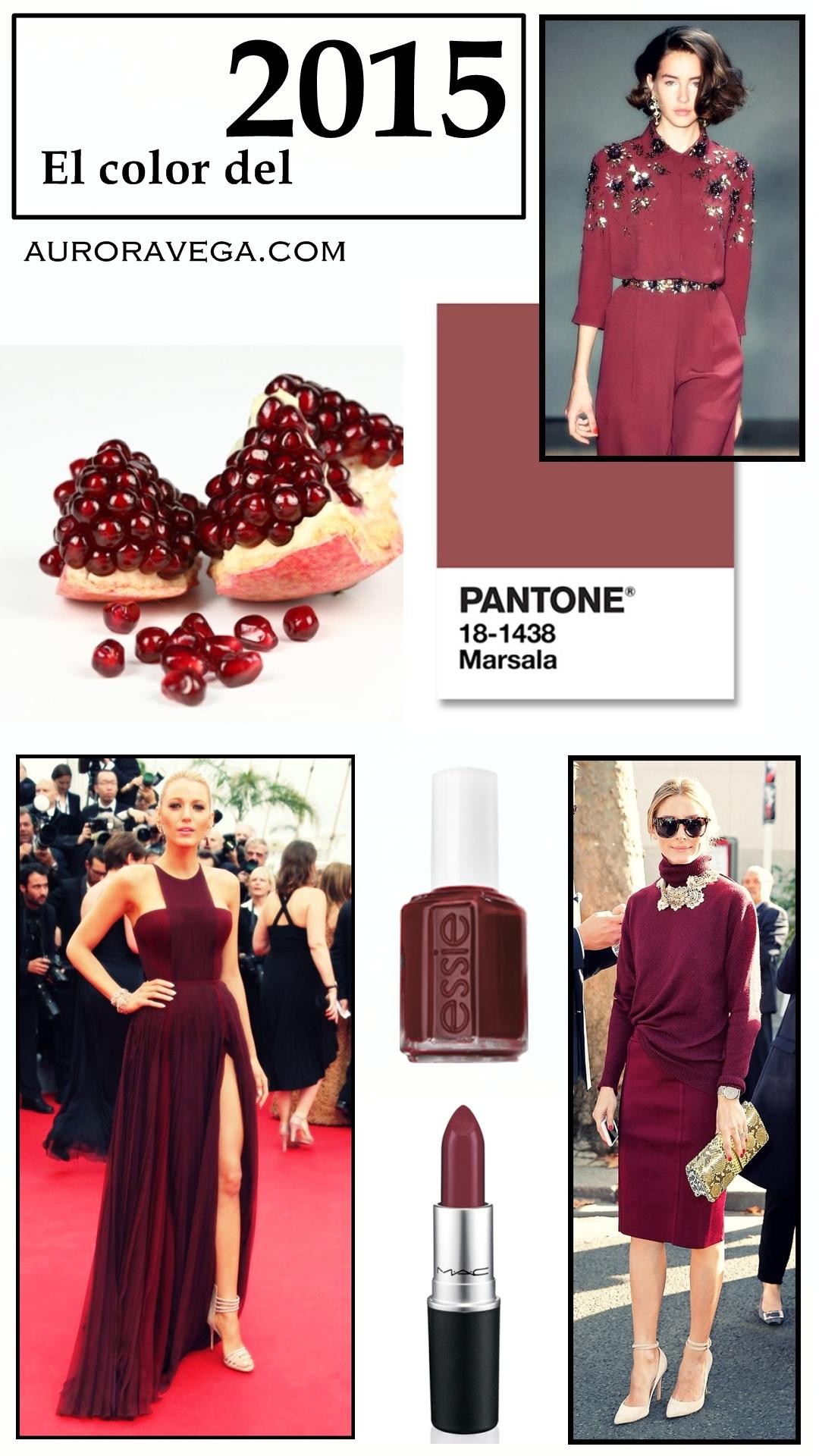 Color del año 2015 Pantone Marsala