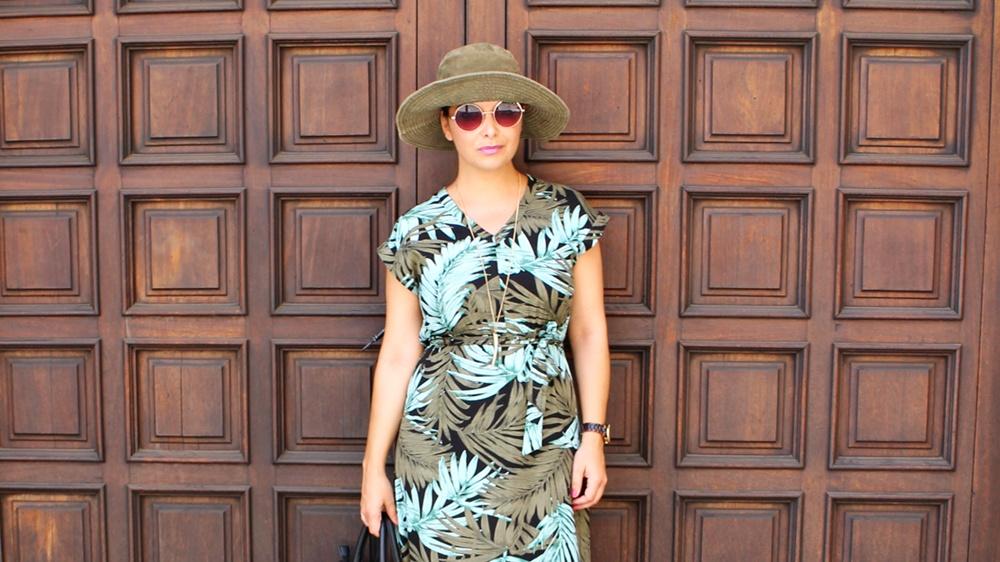 vestido tropical zaful