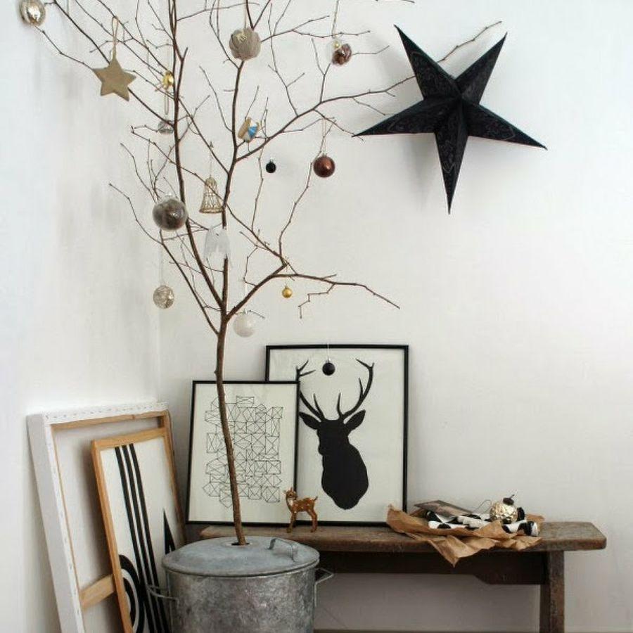 Ideas diy rbol de navidad aurora vega - Arboles secos para decoracion ...