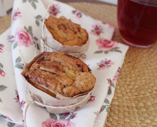 muffin de avena con manzana