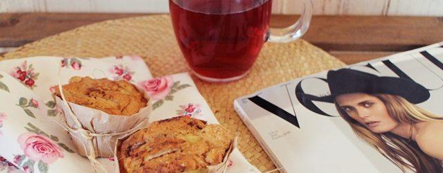 muffins de avena con manzana