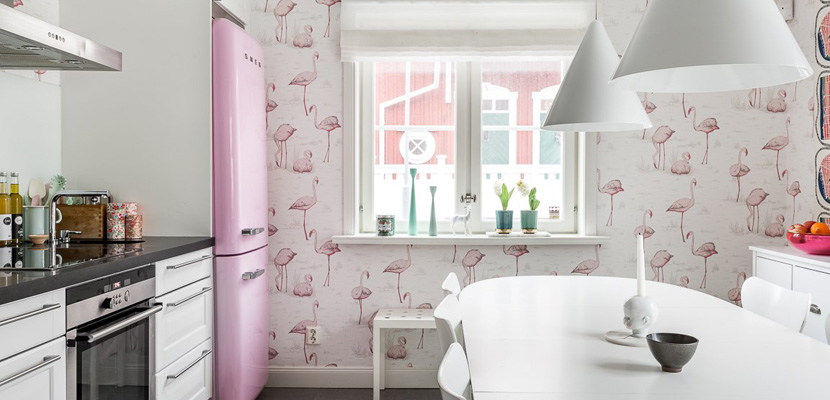 Flamingo deco aurora vega - Papel pintado para cocinas modernas ...