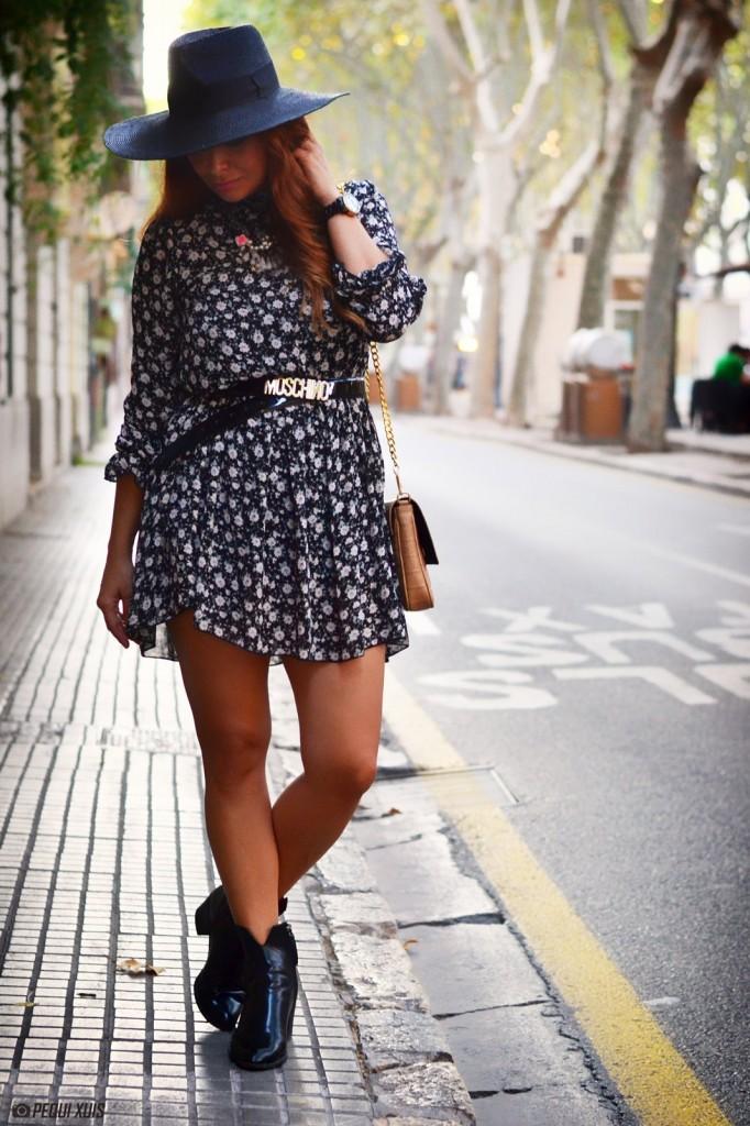 outfit vestido flores, the code