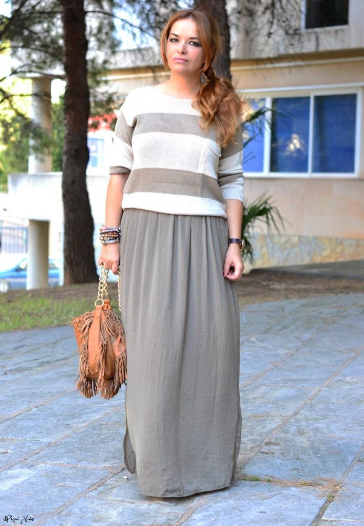 look falda larga