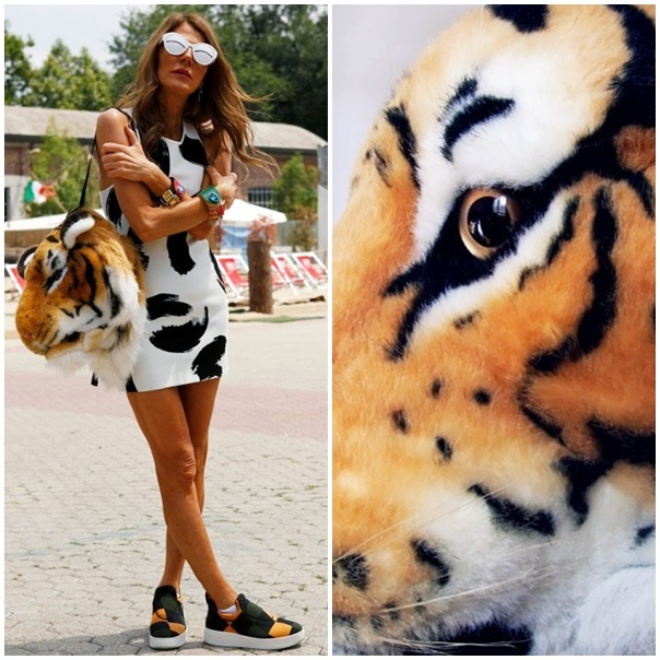 bolso cabeza tigre