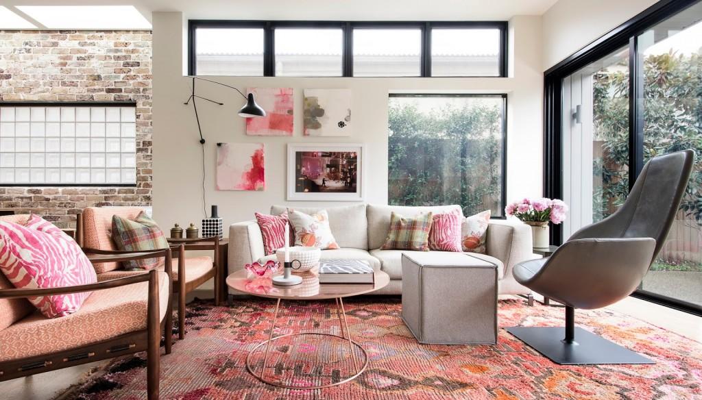 decoración negro y rosa 10