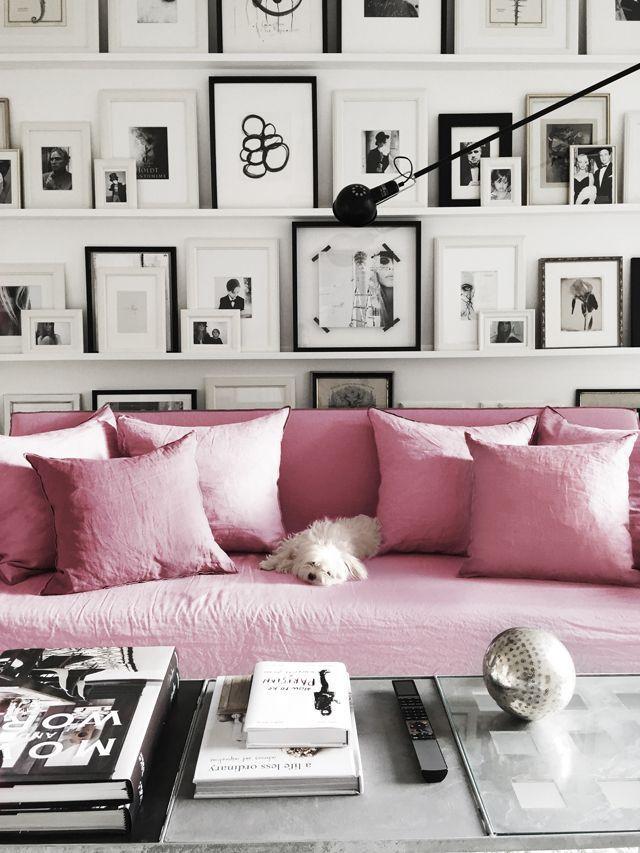 decoración negro y rosa 3