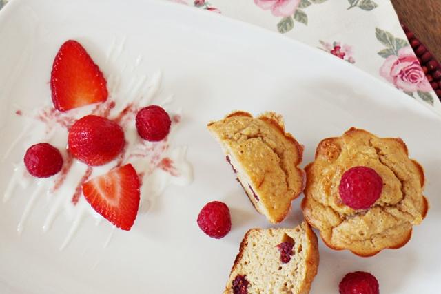 muffins de avena con arándanos