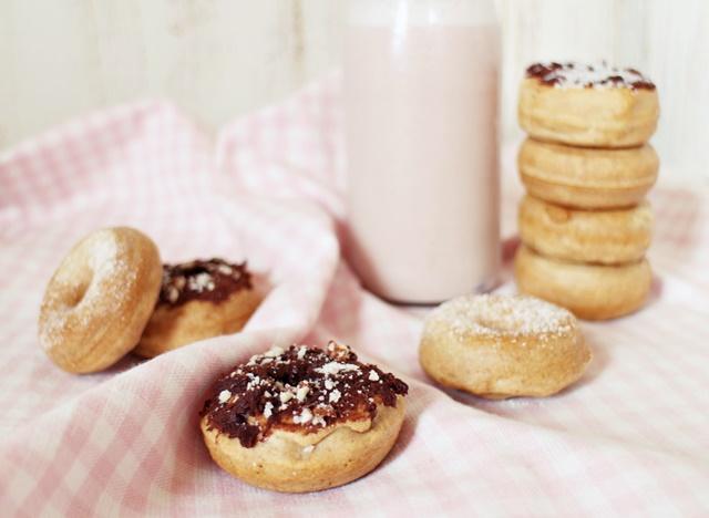 Donuts fit de avena con chocolate
